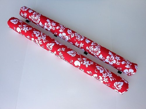 Vitamin Blue 36'' Roof Rack Pads Red Floral - Non Logo (MADE in U.S.A.) REGULAR PADS