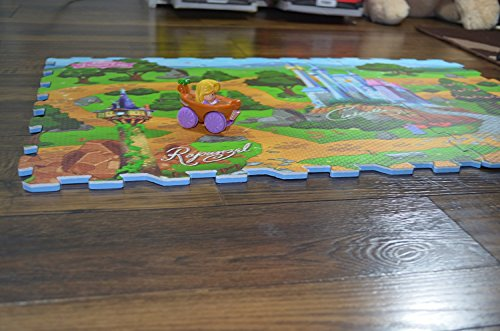 Disney Princess Foam (Disney Princess Mega Floor 6 Piece Playmat with Vehicle)