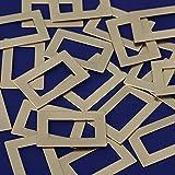 20pcs tibetara 1''x1 1⁄2''(25x38mm) Rectangle Washer Metal Stamping Blanks,Great Stamping Accessory,inner diameter 13x25mm