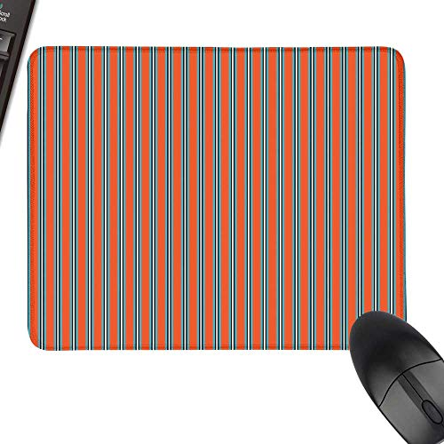 Geometric Gaming Mousepad Vertical Stripes with Warm Toned Backdrop Ornamental Lines Art Design Keyboard Mouse Pad 23.6