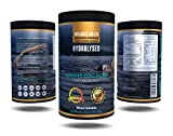 Pure Marine Collagen Peptides |BEST IN HOT WATER| Type 1 & 3 | 10.000mg Per Serving | Hydrolysed | Natural | Unflavoured Powder | All 9 Aminos | Protein | Improves Joints, Bones, Tendons, Muscles | Supports Skin, Hair, Nails | NO Additives | 45 Servings | More Bioavailable Than Bovine | Not suitable for vegetarians … (Black tub)
