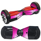 MightySkins Protective Vinyl Skin Decal for Self Balancing Board Scooter Hover 2 wheel mini board unicycle bluetooth wrap cover sticker Pink Diamond Plate