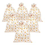 Arts & Crafts : Pack of 6 Jumbo Gift Sacks - Gingerbread Man, Holly, Candy Cane Design - Perfect for Large Christmas Gifts - Includes Strings for Tying, 36 x 48 Inches
