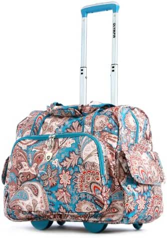 Olympia Deluxe Fashion Rolling Overnighter Travel Tote