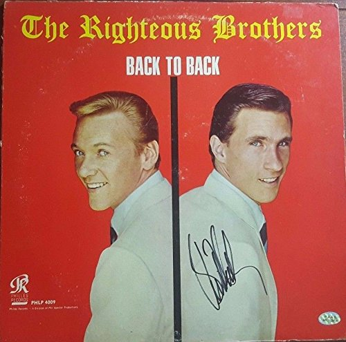 The Righteous Brothers Signed Bill Medley Album PAAS W/CoA PoP Soul
