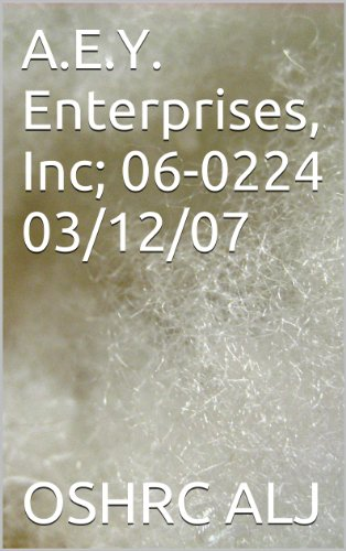 A.E.Y. Enterprises, Inc; 06-0224  03/12/07