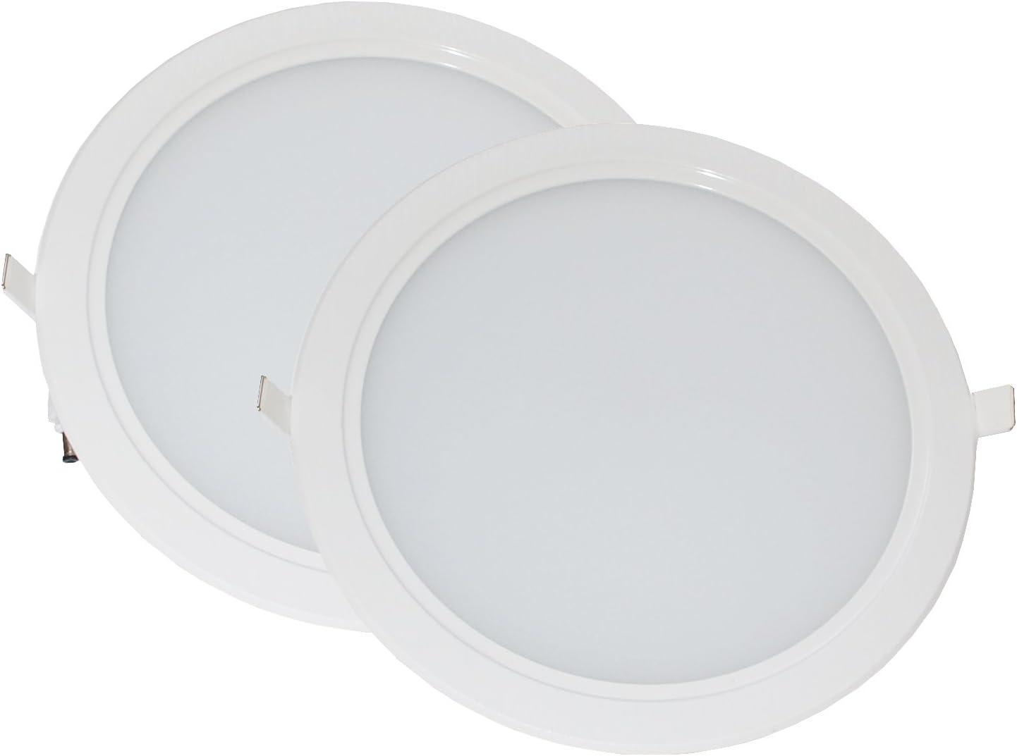 IINNO Pack 2 Downlight LED 20cm 18W color blanco neutro 4.000K: Amazon.es: Iluminación