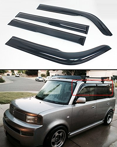 (Cuztom Tuning JDM 3D Style Smoked Window Visor Deflector Fits for 2003-07 Scion XB BB 1ST Gen)