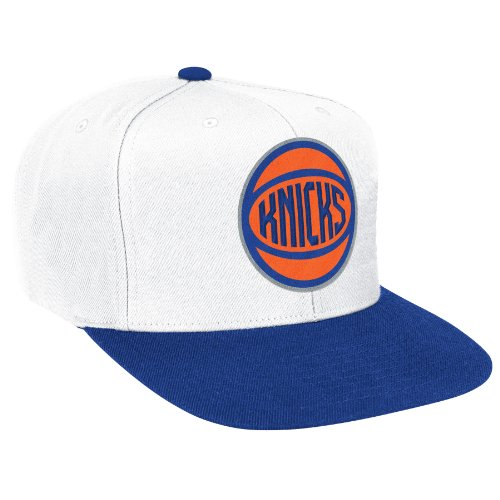 New York Knicks Basic Logo White/Blue Adjustable Snapback Hat / Cap