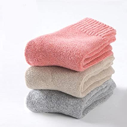 Invierno Calcetines niña calcetines de calcetines de grosor plus terciopelo cálido calcetines de algodón puro algodón