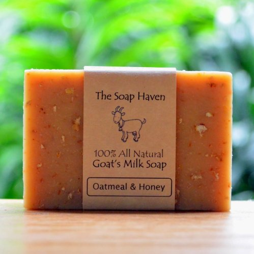 4 Bars of All Natural Oatmeal  Honey, Fresh Goat Milk Soap for Eczema. FRAGRANCE FREE with OATMEAL  HONEY. Wonderful for Eczema, Psoriasis, sensitiv…