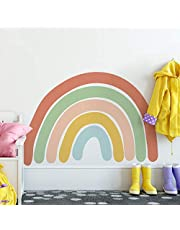 LUOWAN Rainbow Wall Decal Nursery Wall Sticker Attractive Watercolor Rainbows Removable Vinyl Stickers for Kids Baby Girls Bedroom Wall Art