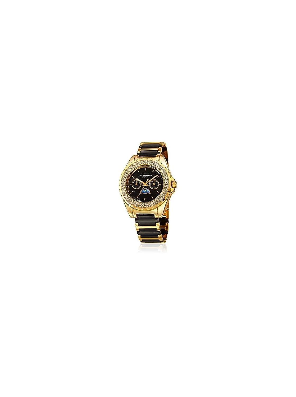 [アクリボス XXIV] Akribos XXIV 腕時計 Women's Quartz Stainless Steel and Ceramic Casual Watch, Color:Two Tone クォーツ AK961YGB レディース 【並行輸入品】 B01N8TKF8S