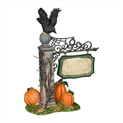 (Department 56 Halloween Village Spooky Village Sign)