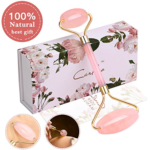 Jade Roller, Puridea Premium Skin Care Tool, Massage Tool for Body, Face,Neck and Helps Reduce Wrinkles,Pink