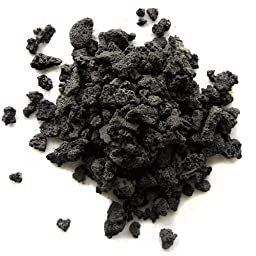 SubstrateSource Natural Black Lava Gravel - 2 Pounds