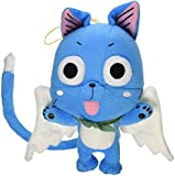 "Great Eastern GE-6968 Animation Official Fairy Tail Anime Happy 8"" Plush"