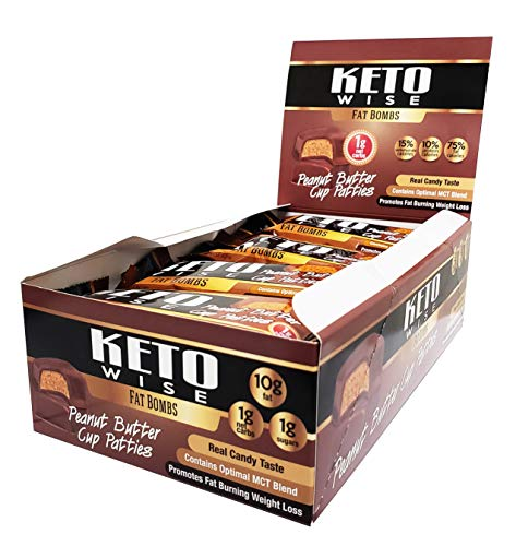 Keto Wise Fat Bombs - Peanut Butter Cup Patties - 16 Packs 34g -
