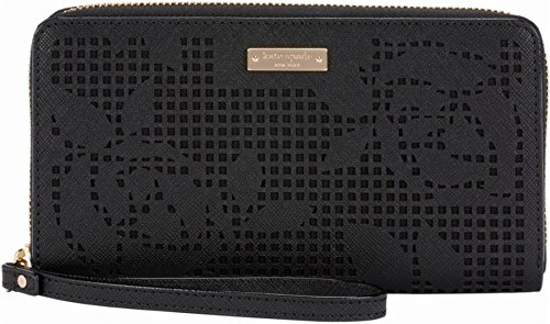 Kate Spade New York Zip Wristlet - Case For Cell Phone - Perforated Rose Black