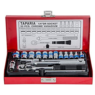 Taparia S1/4H 1/4-Inch Square Drive Socket Set 6