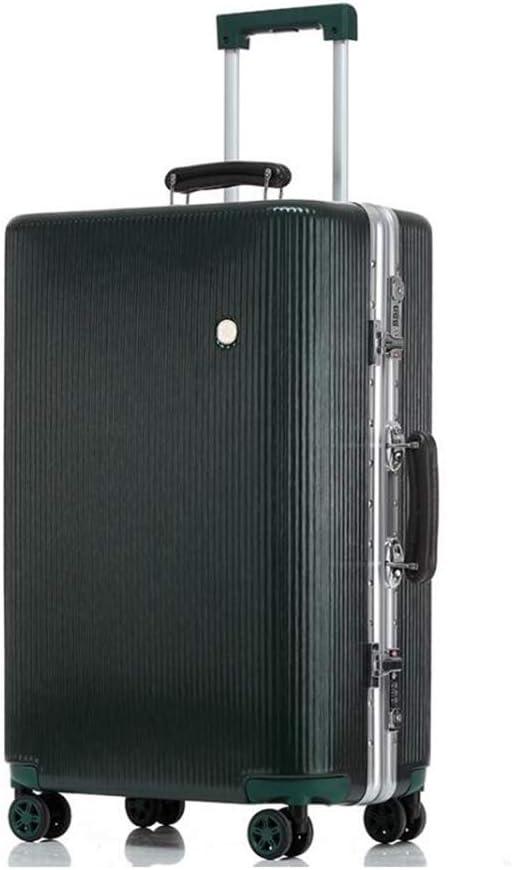 New Matte Scratch-Resistant Trolley Case Large Capacity Men Women Luggage Suitcase Aluminum Frame Password Box Boarding The Chassis Color : D, Size : 69.546.529cm Qzny Suitcase
