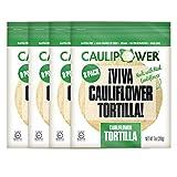 CAULIPOWER Original Cauliflower Tortillas | Certified Gluten-free | Non-GMO | Frozen | 32 Pack