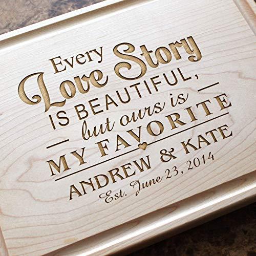 (Personalized Cutting Board, Custom Keepsake, Engraved Serving Cheese Plate, Wedding, Anniversary, Engagement, Housewarming, Birthday, Corporate, Closing Gift #013 )