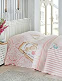 LaModaHome Luxury Soft Colored Bedroom Bedding 100% Cotton Single Coverlet (Pique) Thin Coverlet Summer/Soft Relaxed Comfortable Pattern Cat Animal Colourful/Single