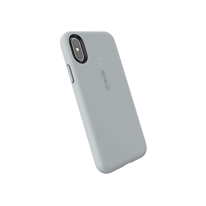 quality design ffa5c 1e626 Speck Products CandyShell Fit iPhone Xs/iPhone X Case, Pebble Grey/Pebble  Grey