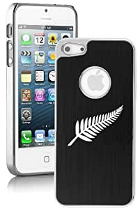 Apple iPhone 5c Aluminum Plated Chrome Hard Back Case Cover New Zealand Silver Fern (Black)