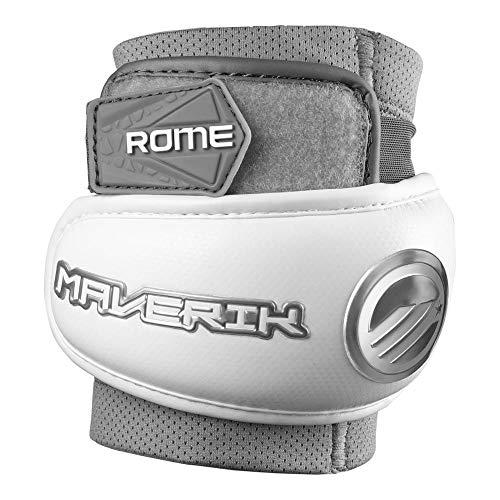 Maverik Rome Lacrosse Elbow Pads White Medium