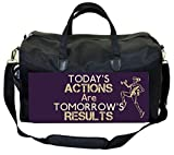 Today's Actions Are Tomorrow's Results-in Purple Therapist Bag