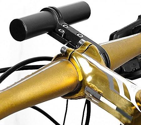 """RUNACC Manillar Extensor para Bicicleta Manillar Extensor de Aluminio Manillar Extensor con Soporte, Apto para Manillares con un Diámetro Aproximados de 1.3"""", Negro.: Amazon.es: Deportes y aire libre"""