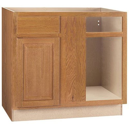 Corner Base Cabinet (RSI HOME PRODUCTS SALES CBKBBC45-MO Medium Oak Finish Assembled Base Blind Corner Base Cabinet, 45