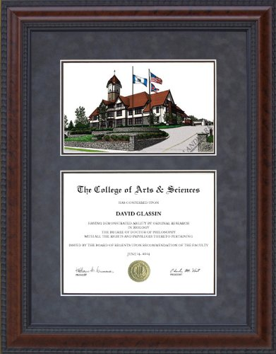 Delightful Diploma Frame With Union Institute U0026 University (UIu0026U) Lithograph   5 X 7  Horizontal