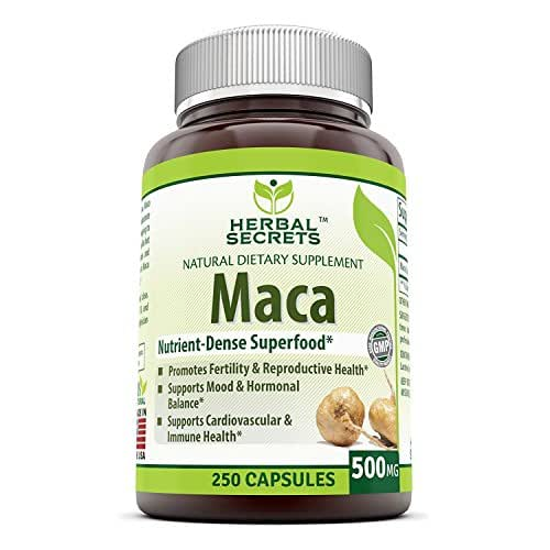 Herbal Secrets Maca 500 Mg 250 Caps - Supports Reproductive Health - Energizing Herb*