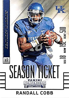 Randall Cobb football card (University of Kentucky Wildcats) 2015 Contenders Draft Picks #83 Season Ticket