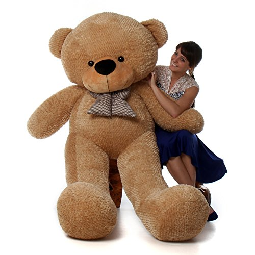 6 foot life size teddy bear amber brown color huge stuffed animal teddybear shaggy cuddles by. Black Bedroom Furniture Sets. Home Design Ideas