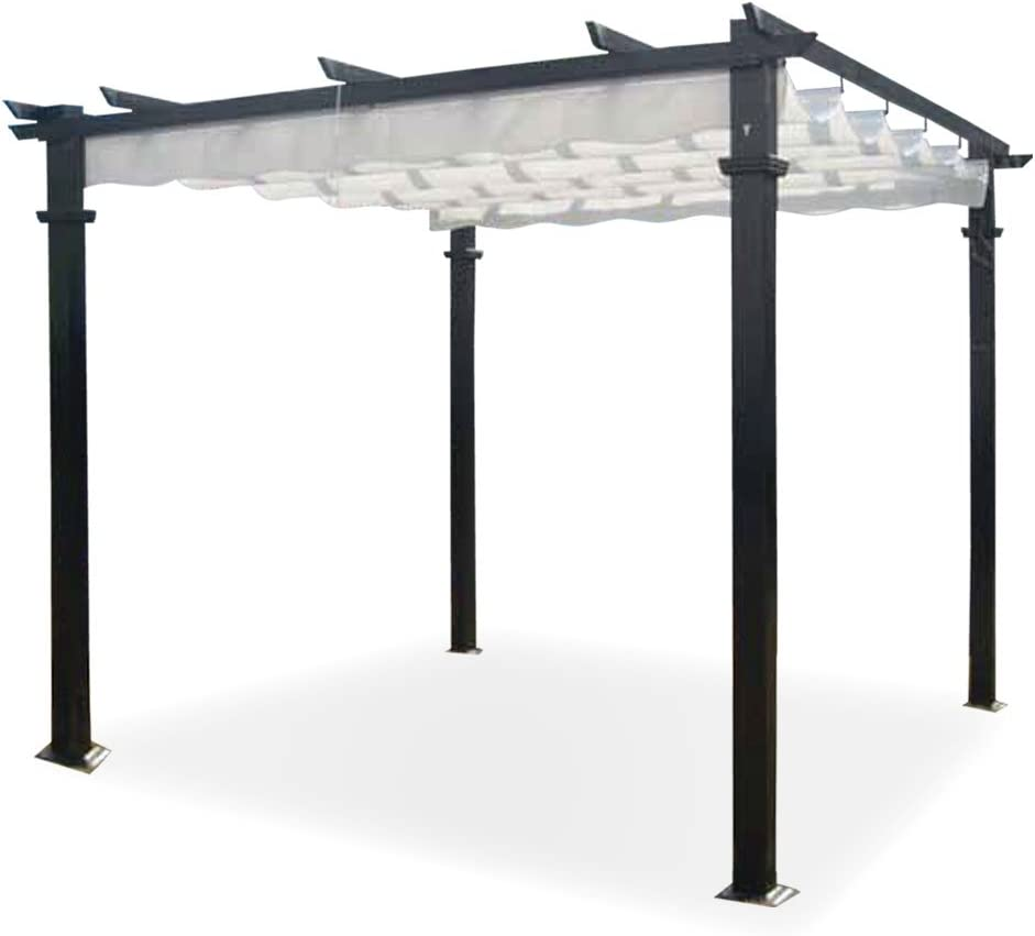 Cenador Firenze 3x4 m. Palos de aluminio, cobertura deslizable ...