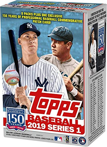 Topps 2019 Baseball Series 1 Trading Cards Relic Value Box (Retail Edition) from Topps