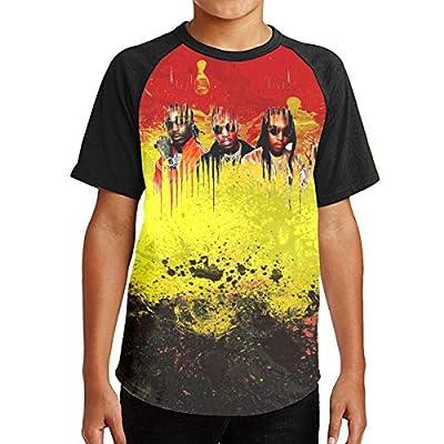 MMWNX Teens Boys Hip Hop-Migos T-Shirt, Fashion Youth Shirt