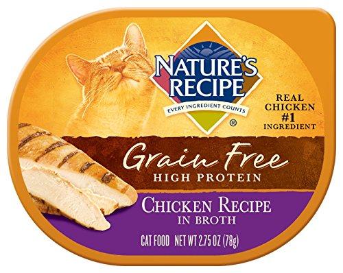 Nature's Recipe Grain Free Wet Cat Food, Chicken Recipe in Broth, 2.75 oz (Pack of 24)