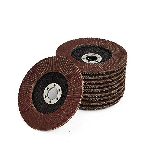 Flap Disc Grinding Wheel Aluminum Oxide Sanding Disc For Angle Grinder 4 inch 10-Pack (80 grit)