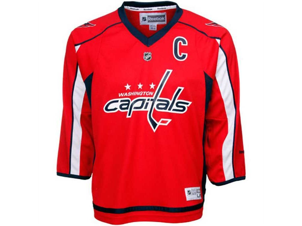 low priced aeafa 258fb Ovechkin Youth Replica Home Jersey (L/XL(14-20))
