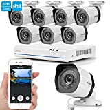 Zmodo 8 CH 720p NVR Outdoor IP Simplified PoE Security Camera System No Hard Drive