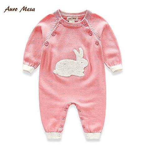 De punto bebé Pelele TODO bebé niños ropa rosa rosa Talla:3-6M: Amazon.es: Bebé