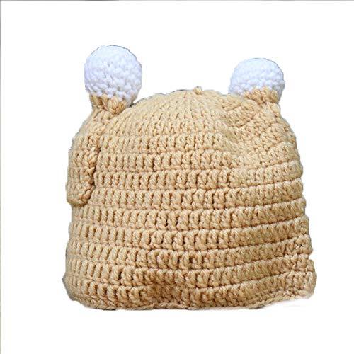 partyclub Turkey Thanksgiving Baby Hat - Brown Winter Crochet Beanie