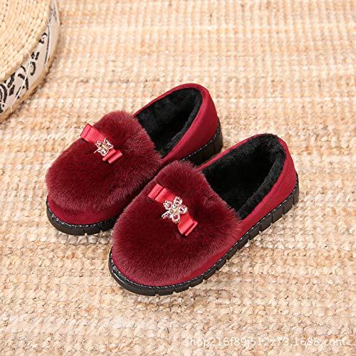 Scarpe Scarpe Stoffa Scarpe calde Antiscivolo da Corte Corte Scarpe red Pechino Basse Spesso Donna di di Scarpe Cotone Calde Spesse di Vecchie HCBYJ vO1wq8n