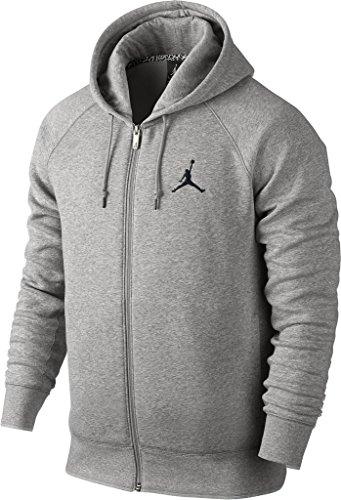 Nike mens JUMPMAN BRUSHED F/Z HOODY 688995-063_4XL - DK GREY HEATHER/BLACK