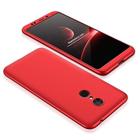 JMGoodstore Funda Xiaomi Redmi 5,Carcasa Xiaomi Redmi 5, Funda 360 Grados Integral para Ambas Caras+Cristal Templado,[360°] 3 in 1 Slim Fit Dactilares ...